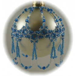 Ice Crystals Ornament Cover Kit Blue/Silver