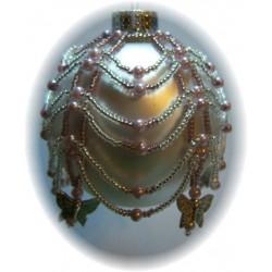 Mariposa Ornament Cover Kit Silver/Mauve