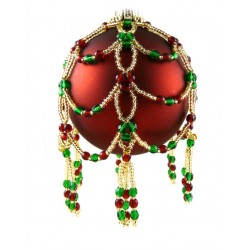 Noel Ornament Cover Kit Green/Red