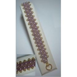 Pearl Parade Bracelet Kit Mauve/Gold