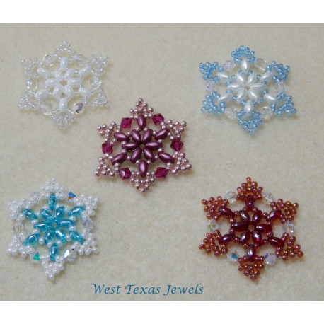snowflake 1 beaded ornament pattern bead patterns by