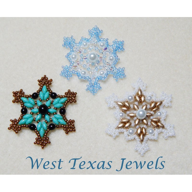 snowflake 2 beaded ornament pattern bead patterns by