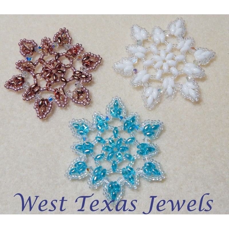 snowflake 3 beaded ornament pattern bead patterns by