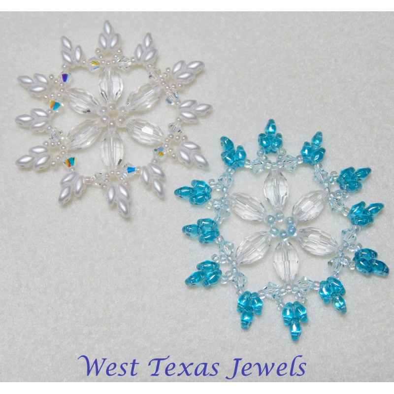 snowflake 7 beaded ornament pattern bead patterns by