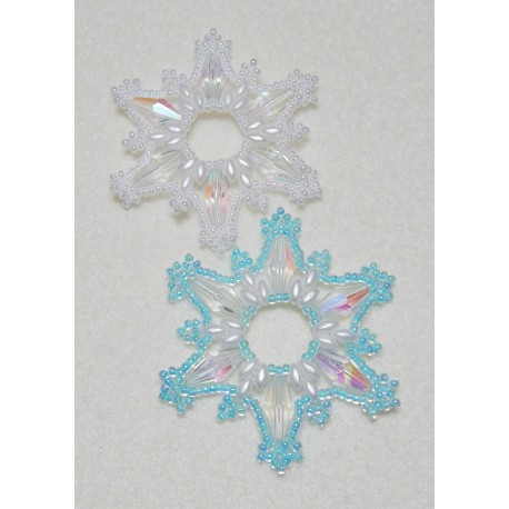 Snowflake 14 Beaded Ornament Pattern