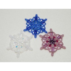 Snowflake 15 Beaded Ornament Pattern
