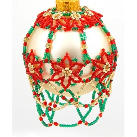Poinsettia Garden Ornament Cover Pattern