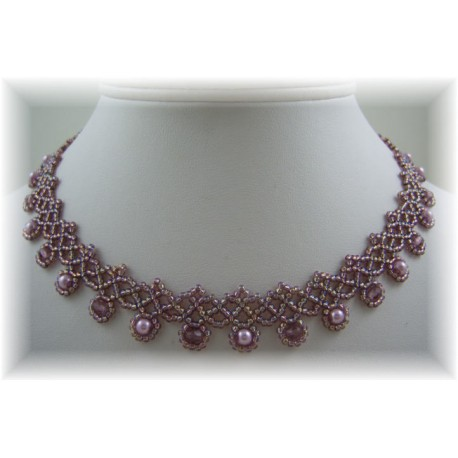 Crystal Chevron Necklace Kit Purple