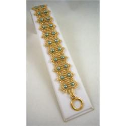 Crowning Glory Bracelet Kit Teal/Gold