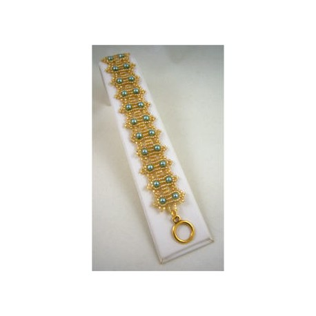Crowning Glory Bracelet Kit Teal/Gold