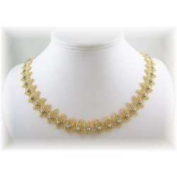 Crowning Glory Necklace Kit  Teal/Gold