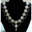 Diamond Jubilee Necklace Kit White/Silver