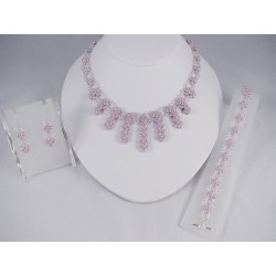 Enchanted Pearls Set Mauve/Silver Kit