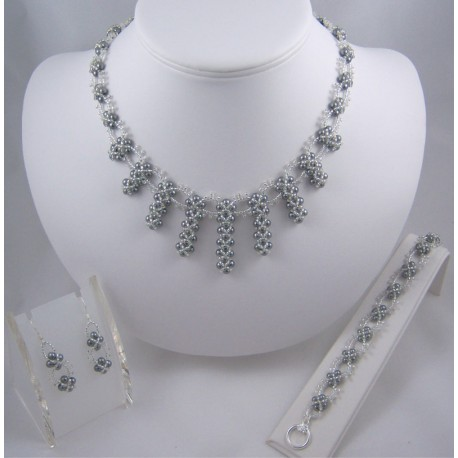 Enchanted Pearls Set Pewter/Silver