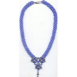 Floral Lace Necklace Kit Blue/Silver