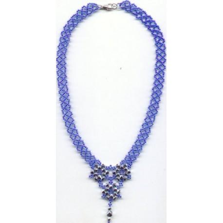 Floral Lace Necklace Kit Blue/Silver