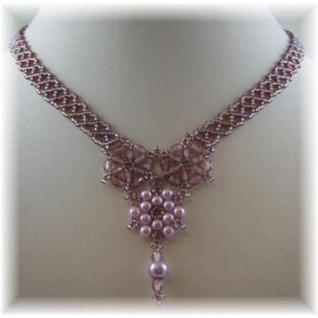 Floral Lace Necklace Kit Purple
