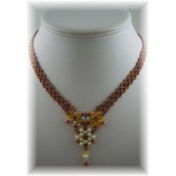 Floral Lace Necklace Kit Topaz
