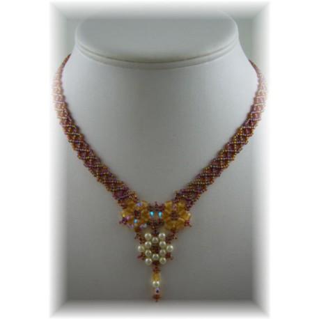 Floral Lace Necklace Kit Topaz